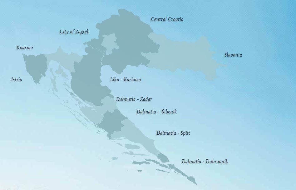 Croatia Overview Map
