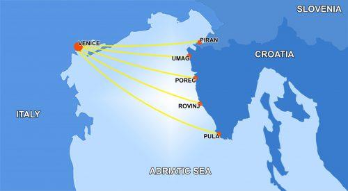 Venezia Lines route map