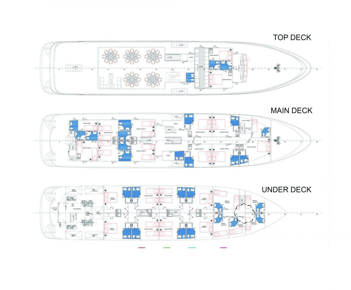 MV Admiral Deck Plan