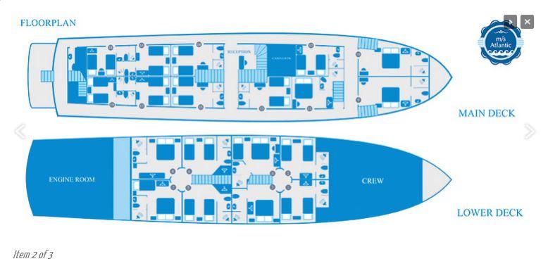 Atlantic Deck Plan