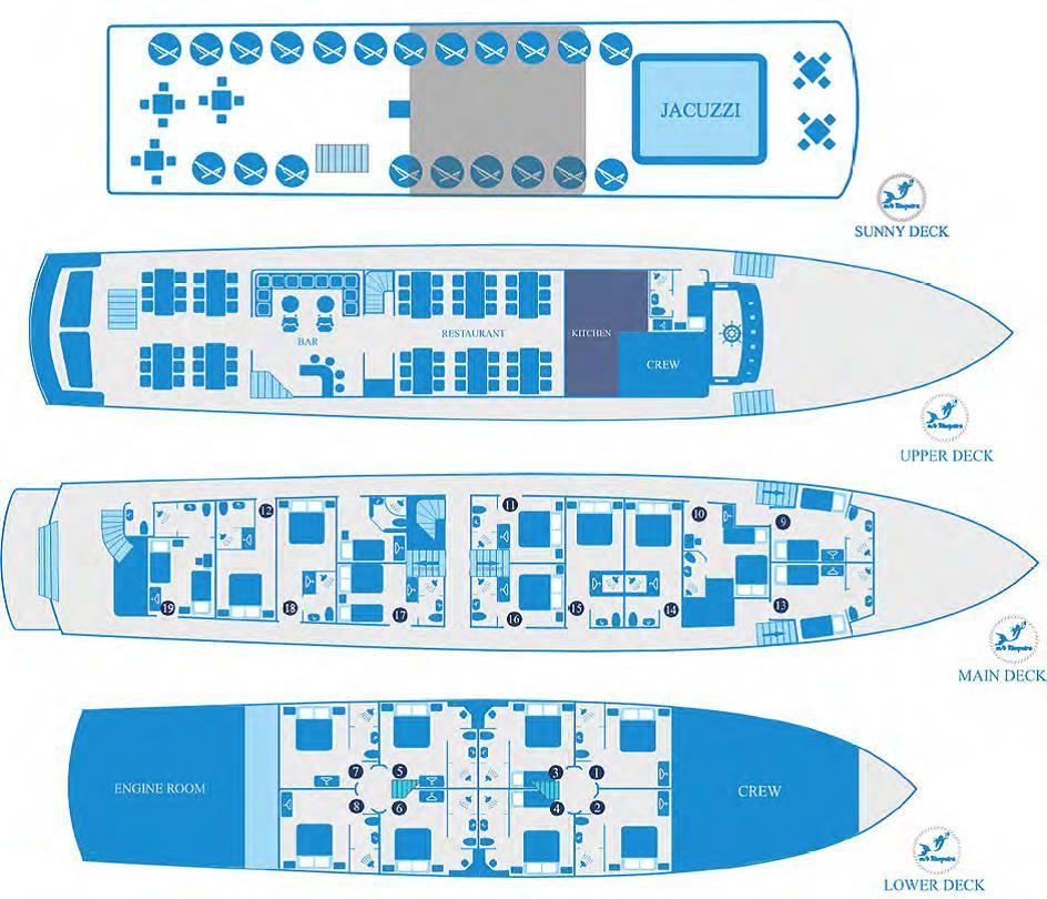 MV Kleopatra Deck Plan