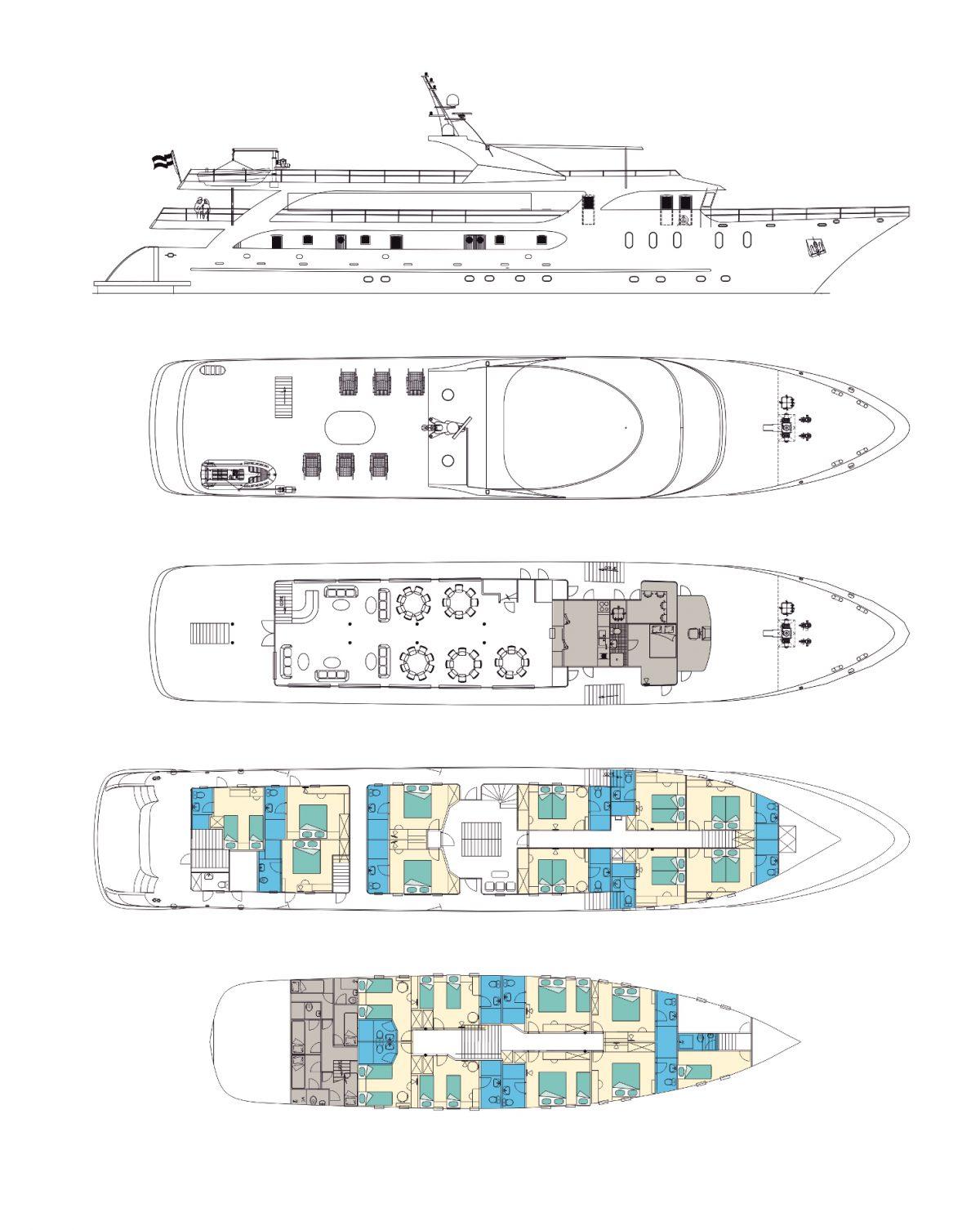 MV Maritimo Deck Plan