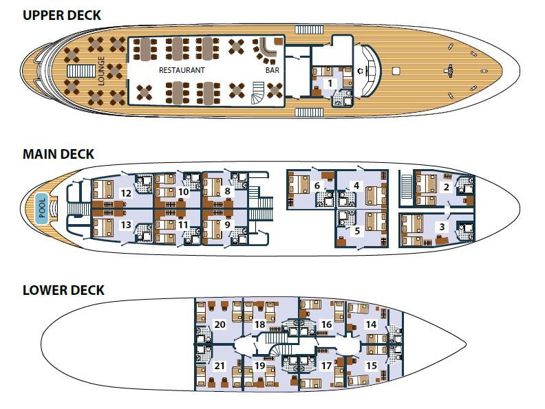 MS Prestige Deck Plan