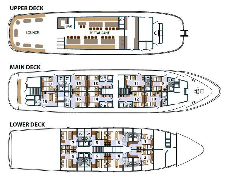 MS Princess Aloha Deck Plan