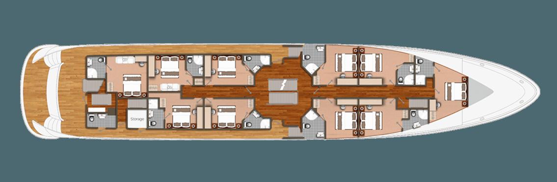 Romatic Star Deck Plan