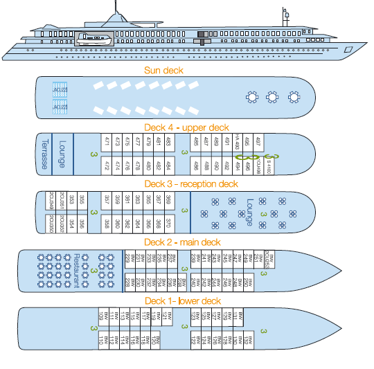 belle de l'adriatique deckplan