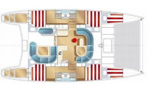 Nautitech 44 catamaran deck plan