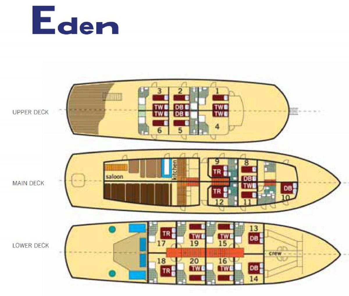 MS Eden Deck Plan