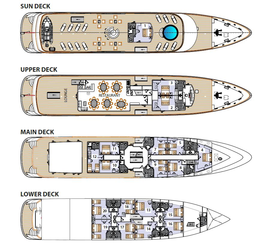 MS Freedom Deck Plan