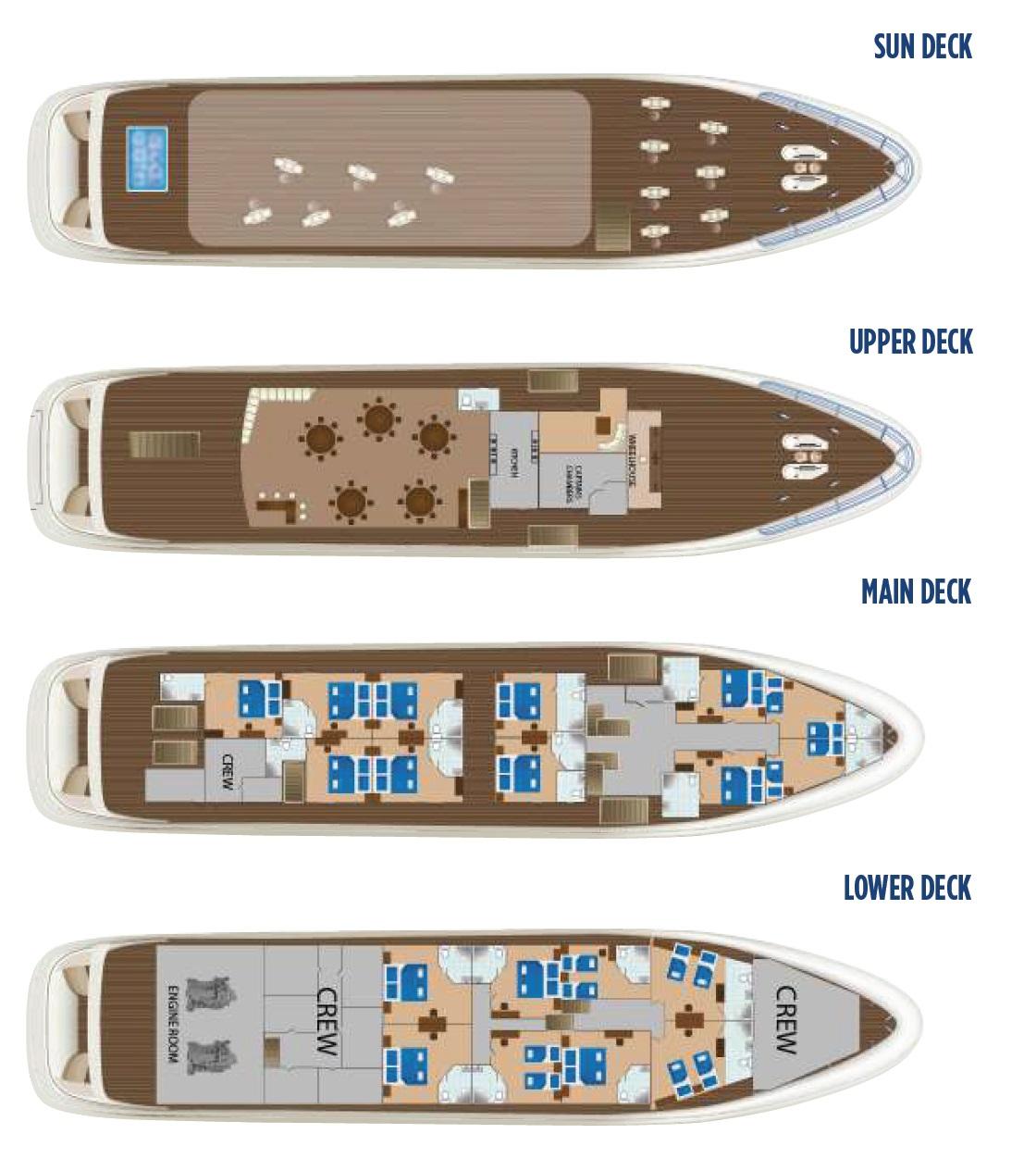Cristal Deck Plan All decks