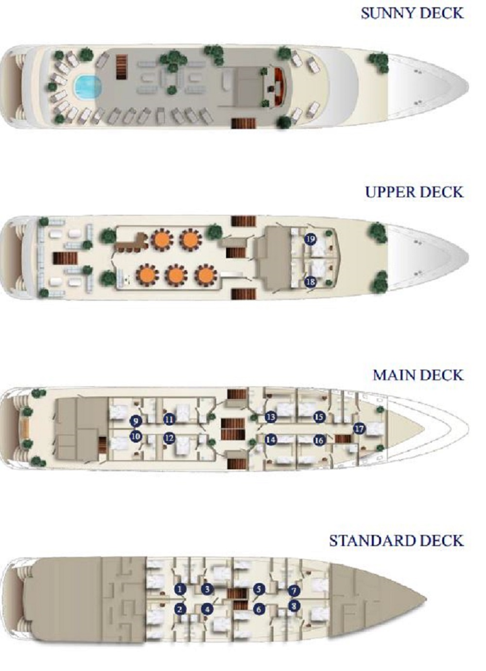 MS Ambassador Deck Plan