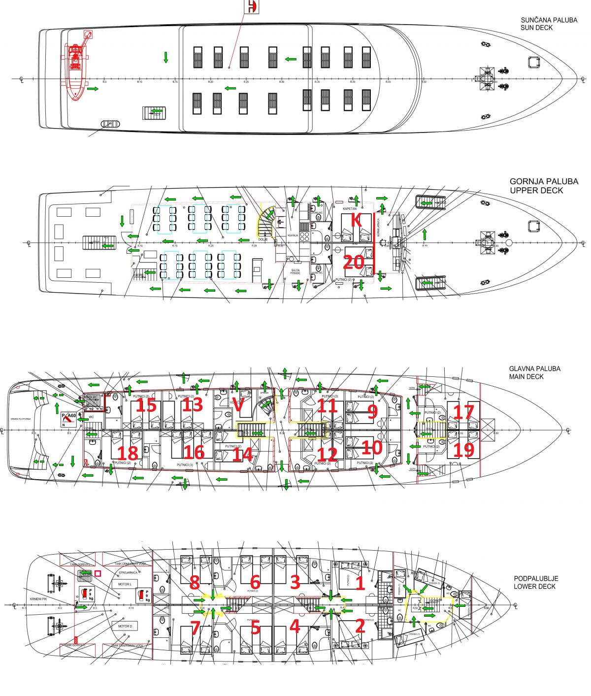 MS Dream Premium Superior Croatian Cruise Ship Deck plan