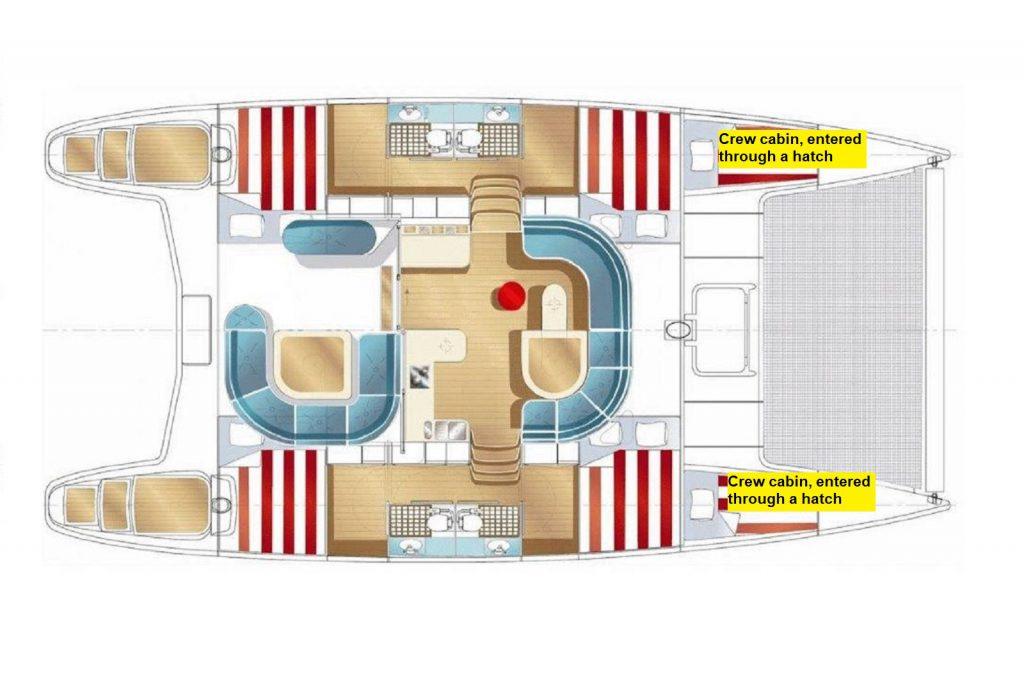 Nautitech Cabin Plan