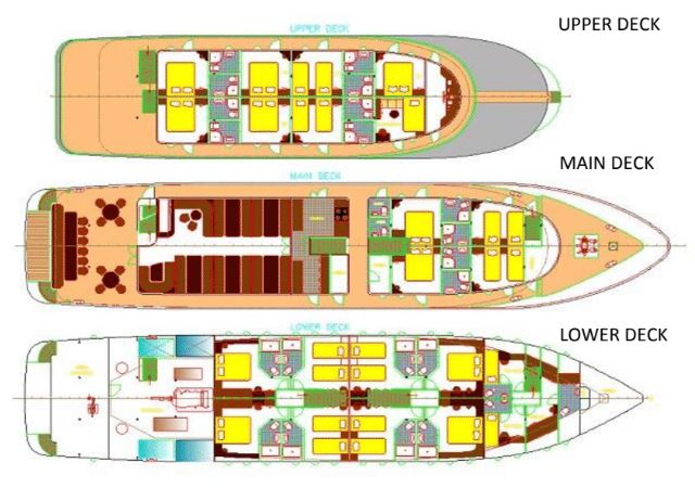 Spalato Deck Plan