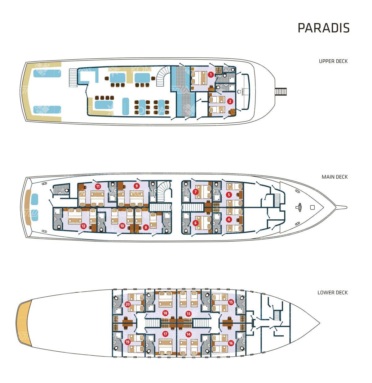 Paradis Deck Plan
