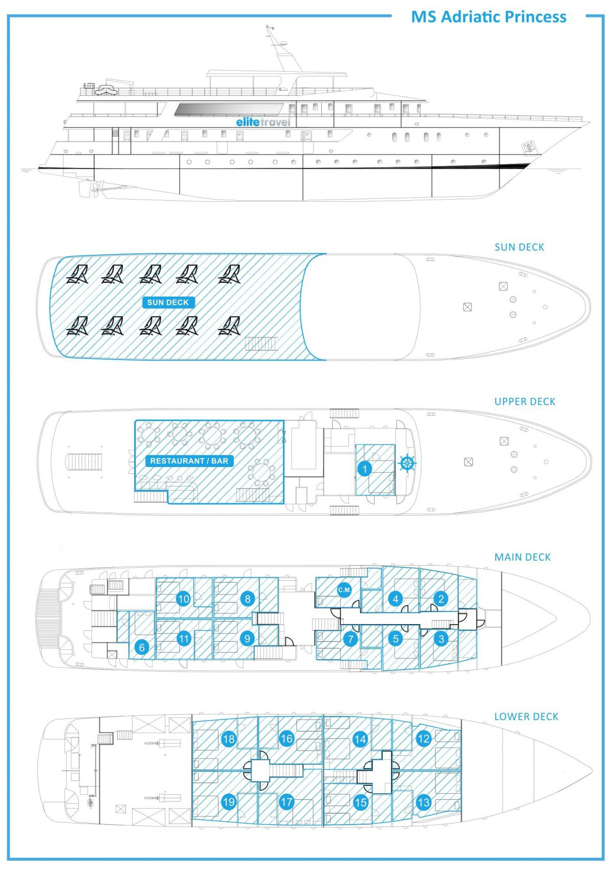 Adriatic Princess Deck Plan