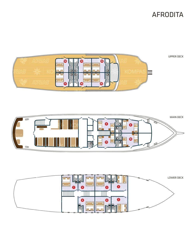 Afrodita Deck Plan