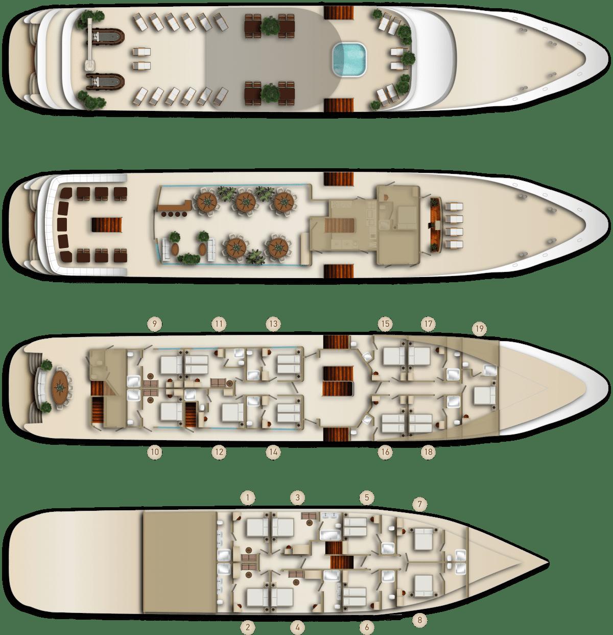 Deck Plan MS Mama Marija II