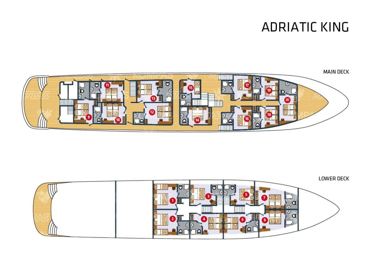 Adriatic King Deluxe Superior Croatia Cruise Ship Cabin Plan