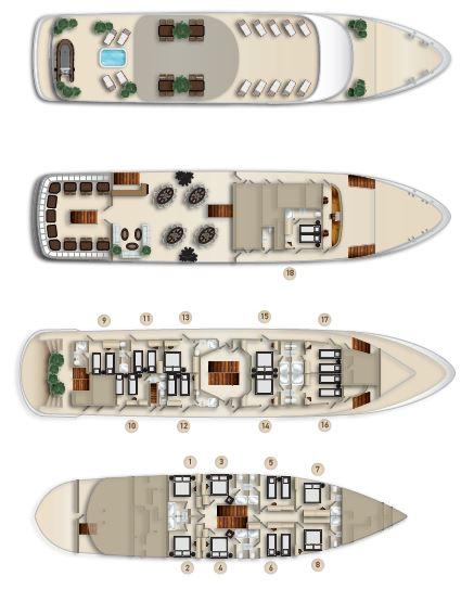 MS Invictus Deck Plan
