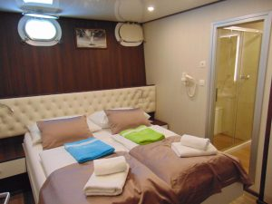 MS Invictus Cabin Double Bed Lower Deck